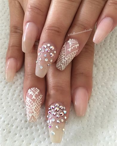 211 best bridal wedding nail art images on pinterest wedding nails nude henna by bellissimanails from nail art gallery junglespirit Choice Image