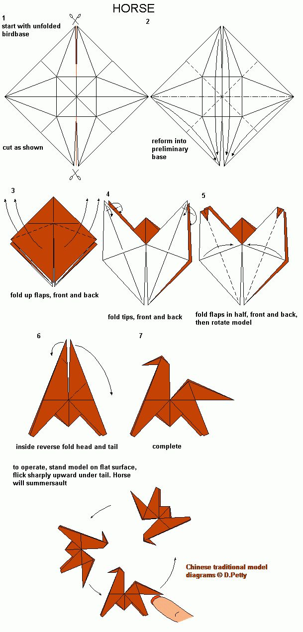 origami flipping horse ms origami favorites pinterest