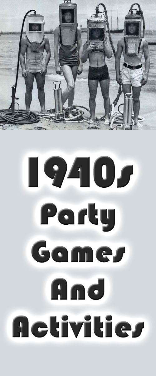 Unique and fun 1940s theme party games and activities - great for your next 1940s theme party.