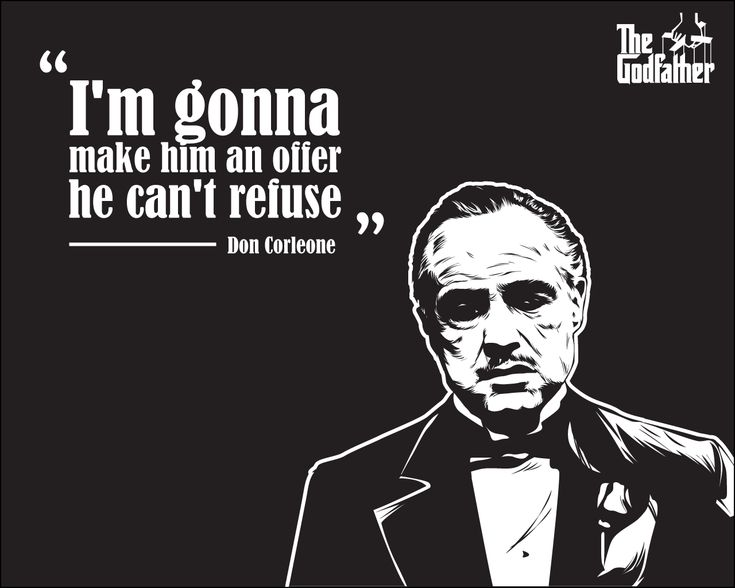 Godfather Wallpaper - Vito Corleone's Quote by astayoga.deviantart.com on @DeviantArt