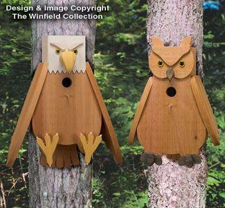 birdhouse pictures   ALL - Cedar Owl & Eagle Birdhouse Plans
