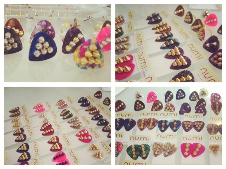 ///Plectrum Style\\\ Original Earrings and Rings