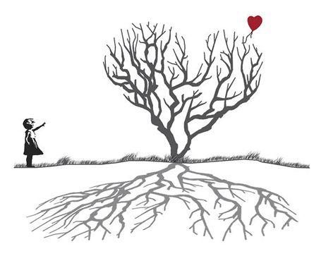 banksy tree and heart