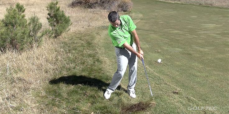Utilizing the bounce of your wedge like you would in a bunker could help you out the next time you find your ball buried in the deep rough!