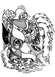 hotrod colouring pages page
