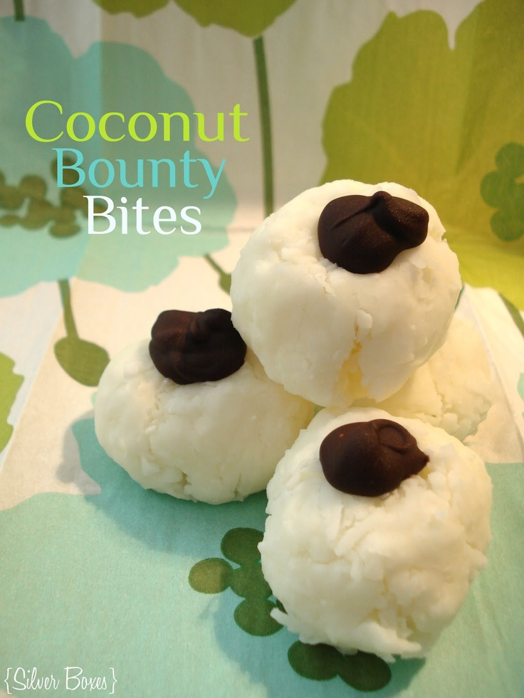 Silver Boxes: Coconut Bounty Bites - The perfect treat for coconut lovers and very easy to make!