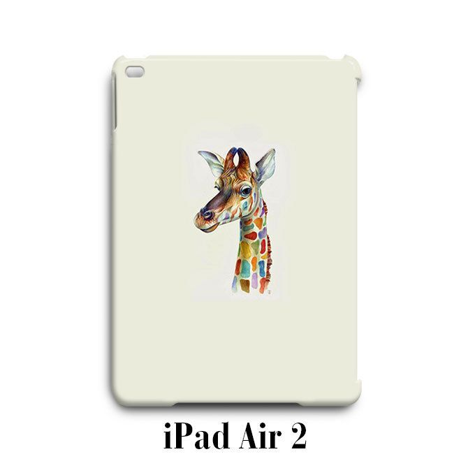 Cute Giraffe Colorful iPad Air 2 Case Cover Wrap Around