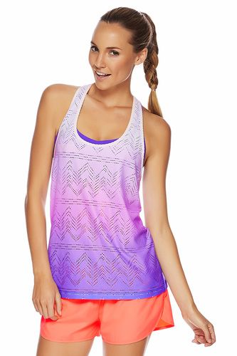 Sunset Excel Mesh Tank | Loose Fit Styles | Shop By Fit | Categories | Lorna Jane Site