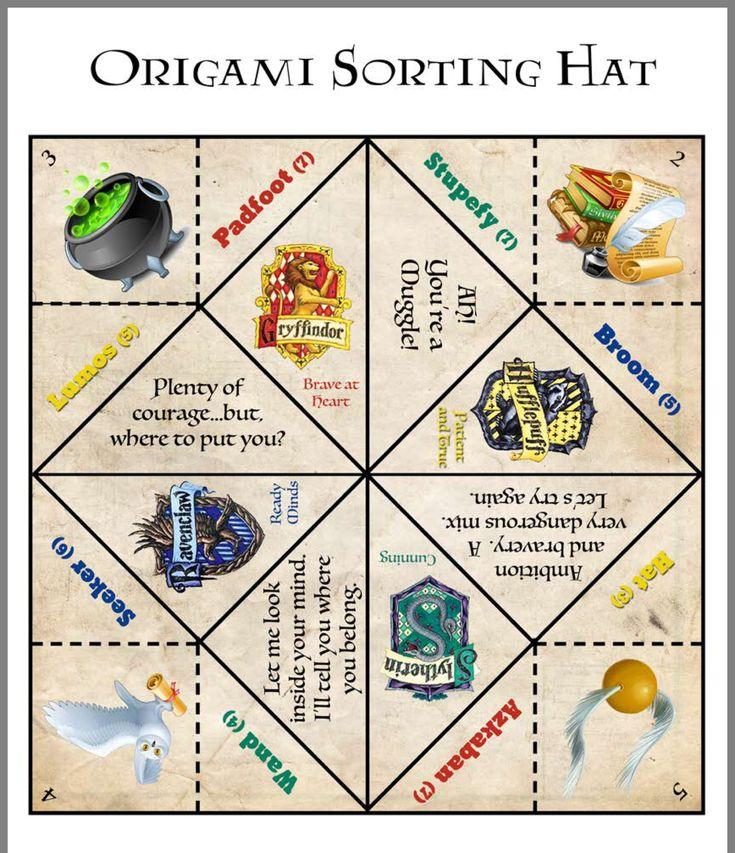 Sorting Hat Origami