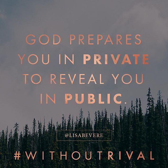 David faced the lion and the bear in SECRET before God had him defeat Goliath in PUBLIC. He learned to worship in PRIVATE before he was invited to worship inside the king's PALACE. If you want to step into God's PURPOSES for your life, learn to embrace the PLACE of PREPARATION. #WithoutRival (More at WithoutRival.com)