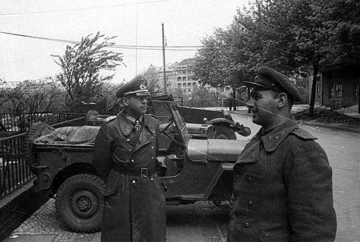 German Chief of Staff Hans Krebs at the negotiation of the surrender of Berlin