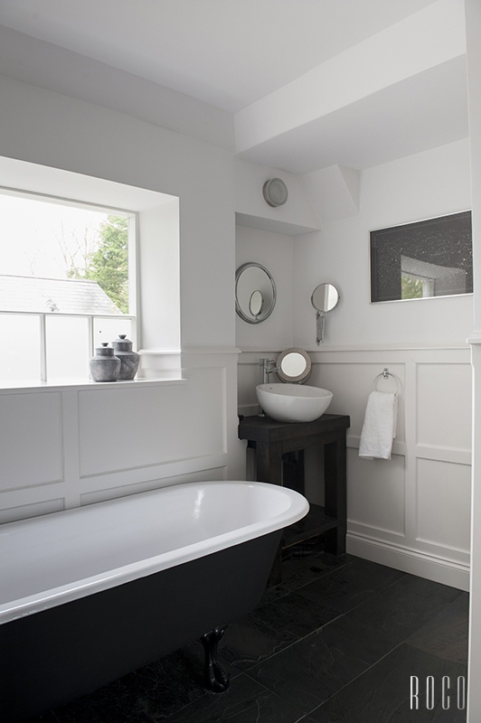 Clean contemporary black white bath board and batten bath pinterest cleanses irvine for Bathroom remodeling irvine ca