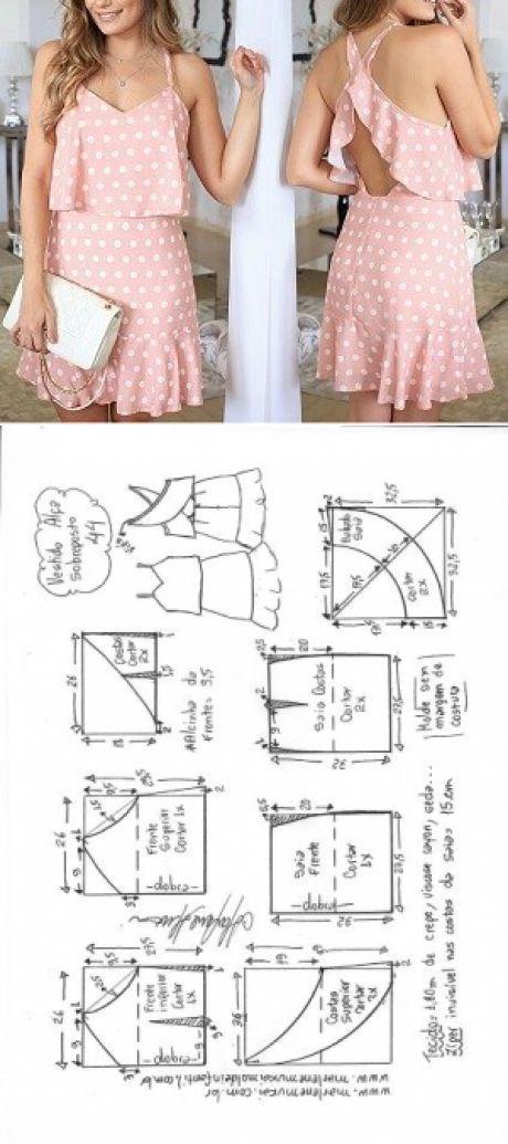 Vestido alcinha sobreposição peplum   DIY - molde, corte e costura - Marlene Mukai
