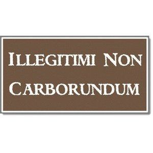 illegitimi non carborundum - Don't let the bastards grind you down.