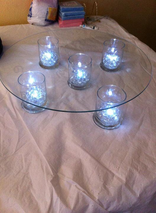Lighted Cake Stand For Brides Cake Wedding Cakes