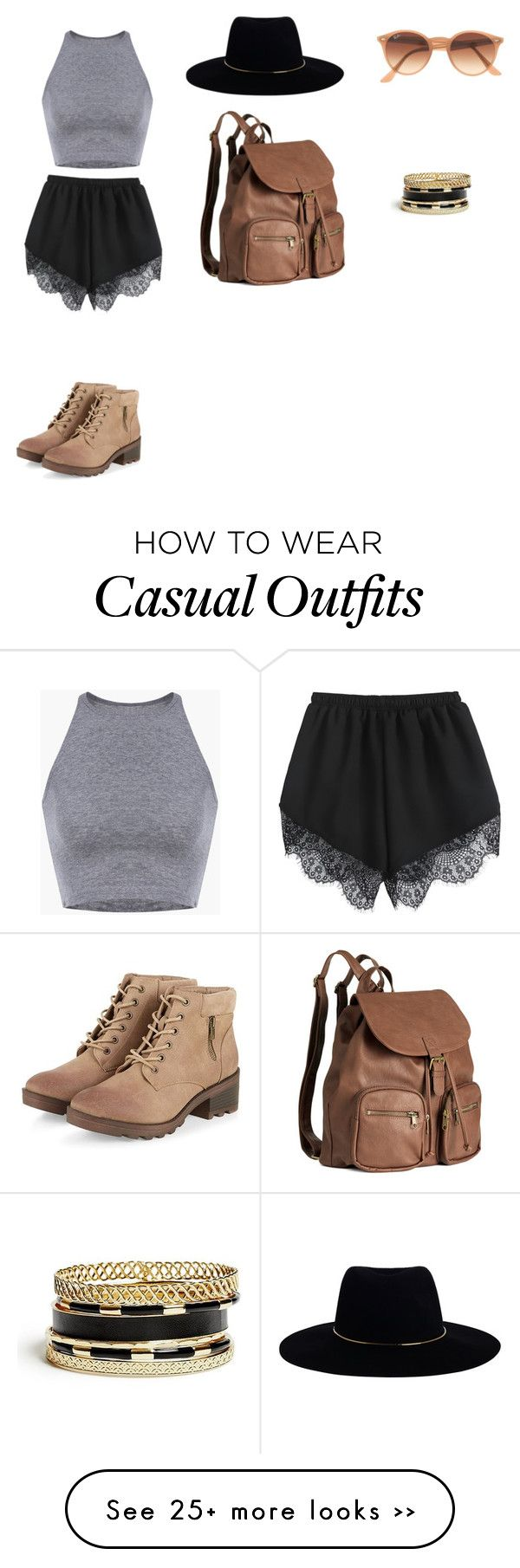 """Casual"" by elizabethhawke on Polyvore featuring Zimmermann, H&M, Ray-Ban and GUESS"
