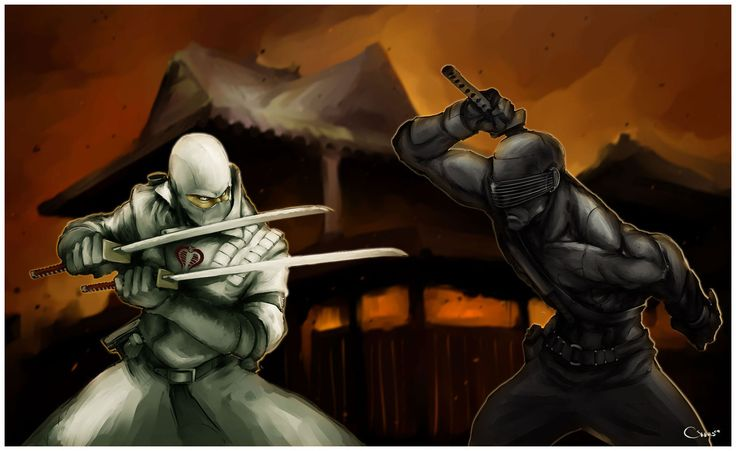 Snake Eyes vs. Storm Shadow - G.I. Joe - Darren Lim Geers
