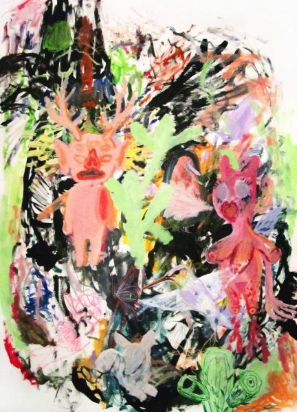 www.artunika.dk / www.artunika.com Heart Ache - 70 x 100. Et originalt maleri af Louise Bech Pedersen.  Louise Bech Pedersen.arbejde rummer stor variation samt favner bredt i både stil og udtryk: akkurate gengivelser af plante Mog dyreliv, tegneserier, print design (beklædning) samt surreal...