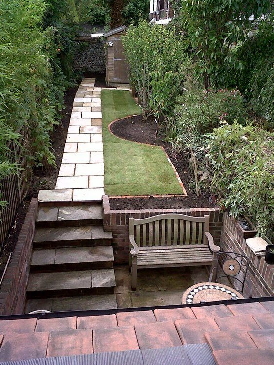 118 best images about garden narrow on pinterest for Narrow back garden designs
