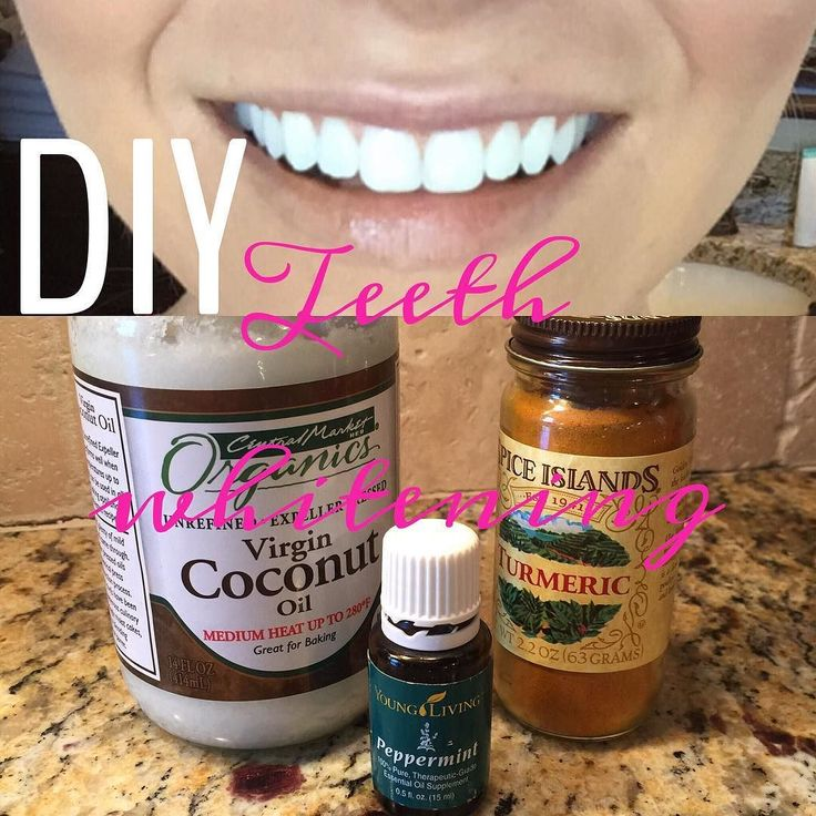 1 tsp coconut oil 1 tsp Turmeric spice and a few drops of peppermint
