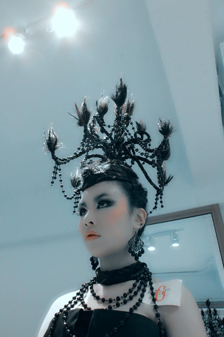 Chandelier headdress-5
