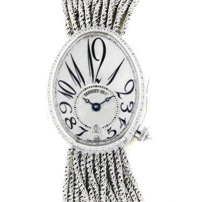 Buy women Breguet 8918bb Reine De Naples Automatic Diamond White Gold Watch