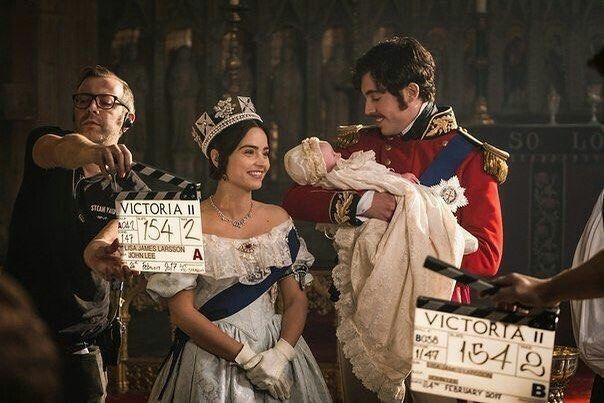 Filming the christening scene from Victoria 2x01.