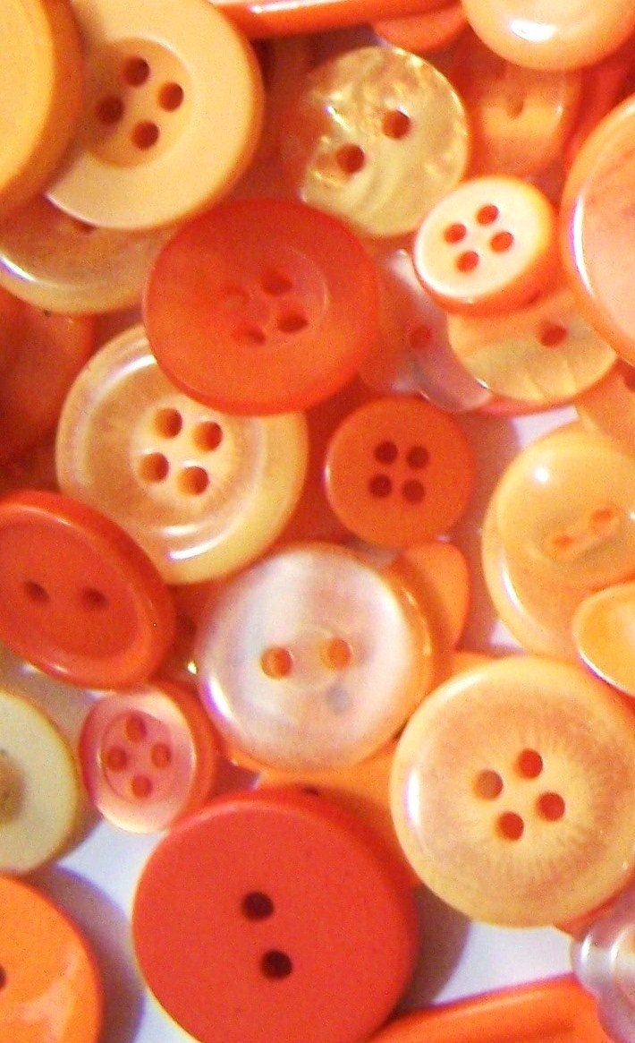 Bulk buttons for crafts - 50 Small Orange Buttons Bulk Orange Buttons New Orange Buttons Bulk Button Lot Baby Buttons Button Jewelry Craft Buttons Summer