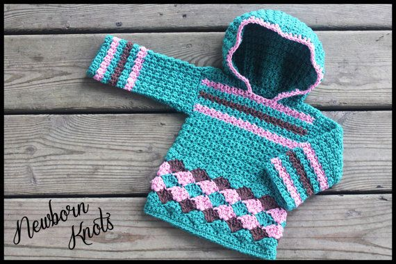 CROCHET PATTERN For Baby Boy or Girls Pullover by NewbornKnots