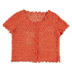 Gehaakte cardigan met korte mouw   Veritas BE, #haken, gratis patroon, Nederlands, vest, zomer