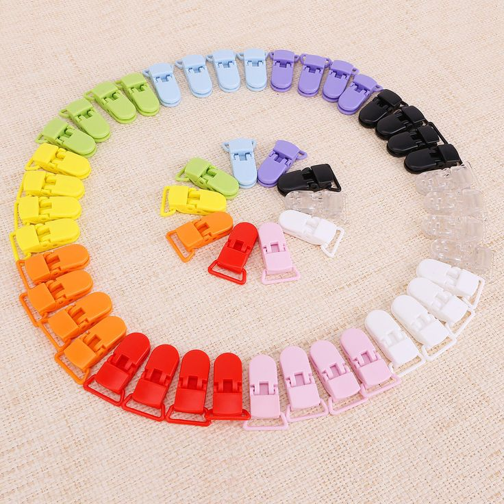 50 KAM Plastic Pacifier Holder Pacifier Clip BOY Dummy Clips Girl Bulk 10 Colour | eBay
