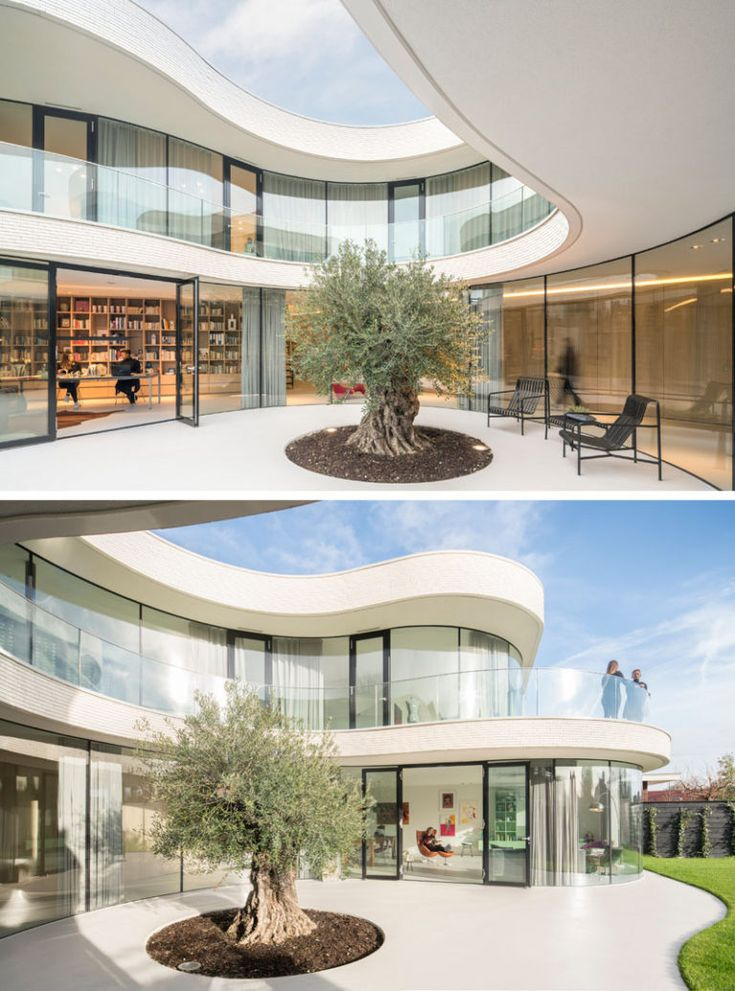 Dutch Curvature Modern House Has A Curved Construction To: Best 25+ Curved Glass Ideas On Pinterest