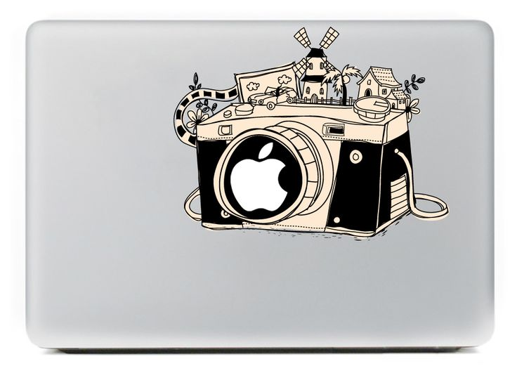 Classic camera vinyl decal sticker for diy macbook pro air 11 13 15 inch laptop case cover sticker