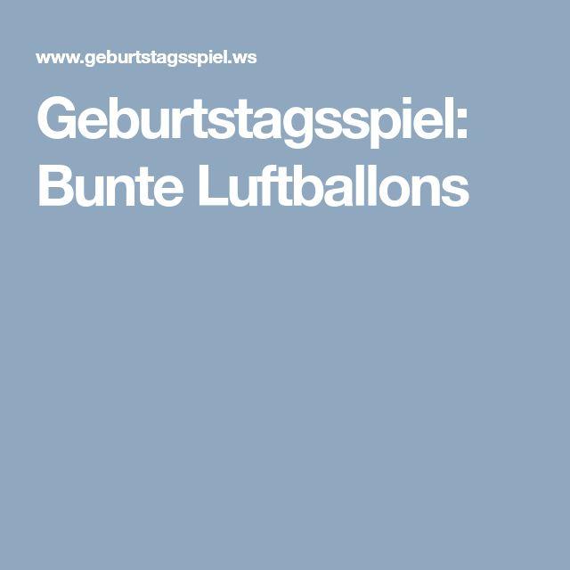 Geburtstagsspiel: Bunte Luftballons
