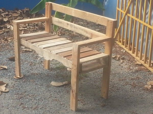 Pallet Outdoor Bench Pallet Benches, Chairs & Stools                                                                                                                                                     More