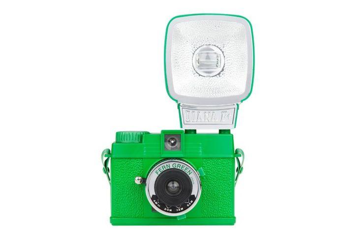 Lomocam Diana Mini 35mm camera in fern green