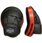 SMAI Syntec Hook & Jab  SMAI - Syntec - Hook & Jab Economy Pair.  The Benefits:  - Curved target with cut finger slip on glove feature. - Durable Synthetic construction making this an ideal starter for Focus mitts and a Club classic favoured among personal trainers. - Very light weight construction for extra long use without fatigue.   For more info visit: http://www.gymandfitness.com.au/smai-syntec-hook-jab.html