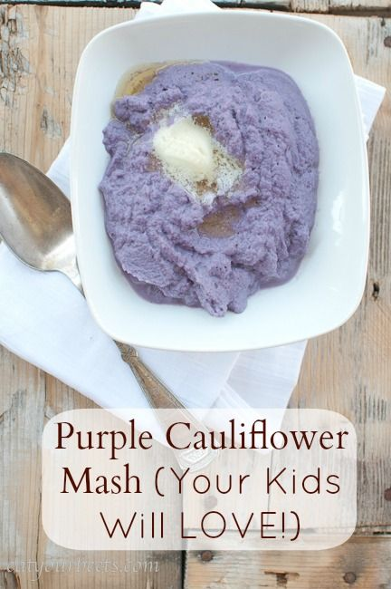 Try it Tuesdays: Purple Cauliflower Mash (Your Kids Will LOVE!)