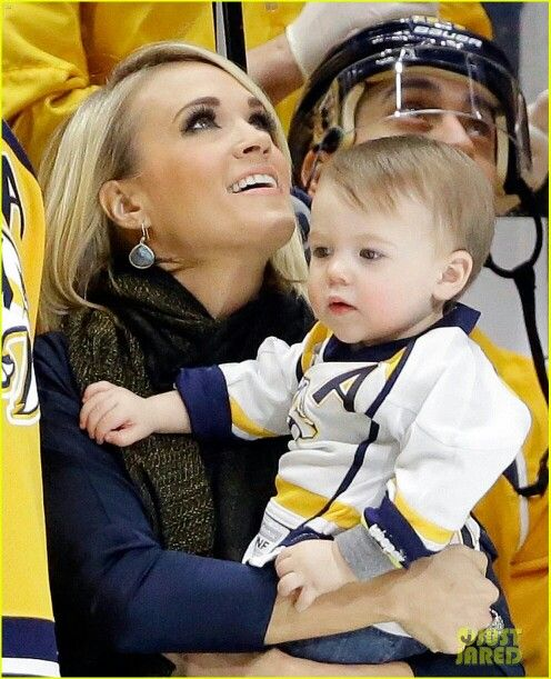 She's living a dream..awesome singer..and married to a hot hockey player..and has a beautiful baby boy.