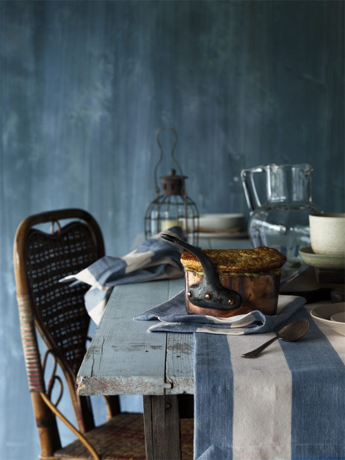 Wide Stripe Country Blue Stylist Selection