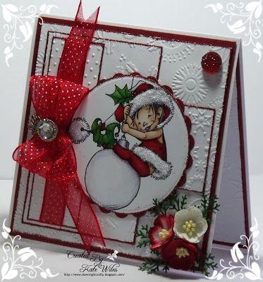 handmade card, Hobby House, Mo Manning Topper, Christmas Elves, Hobby House Embellishments