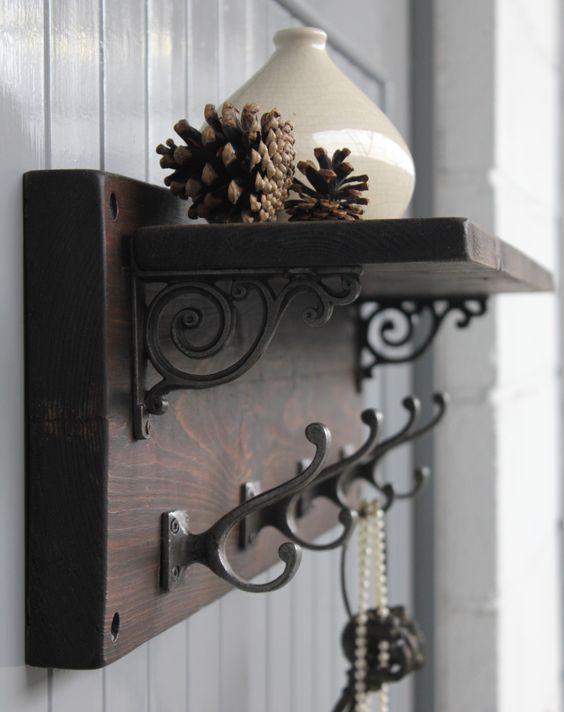 woodencoatracks home coat hook shelf victorian coat rustic rh pinterest com