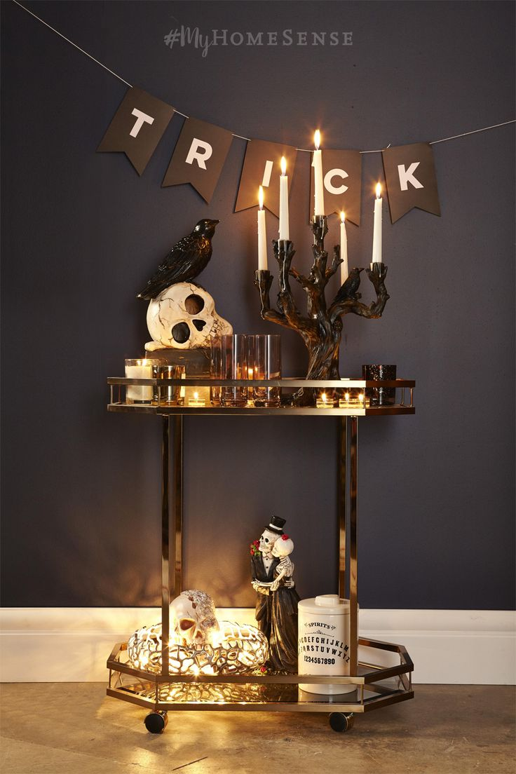 Our skulls are spinning from the endless spooky style possibilities! Decorative skulls adorned with faux crystals, florals and metallic details are a new twist on a classic. Haunt a HomeSense near you for bewitching baubles, starting at $17.