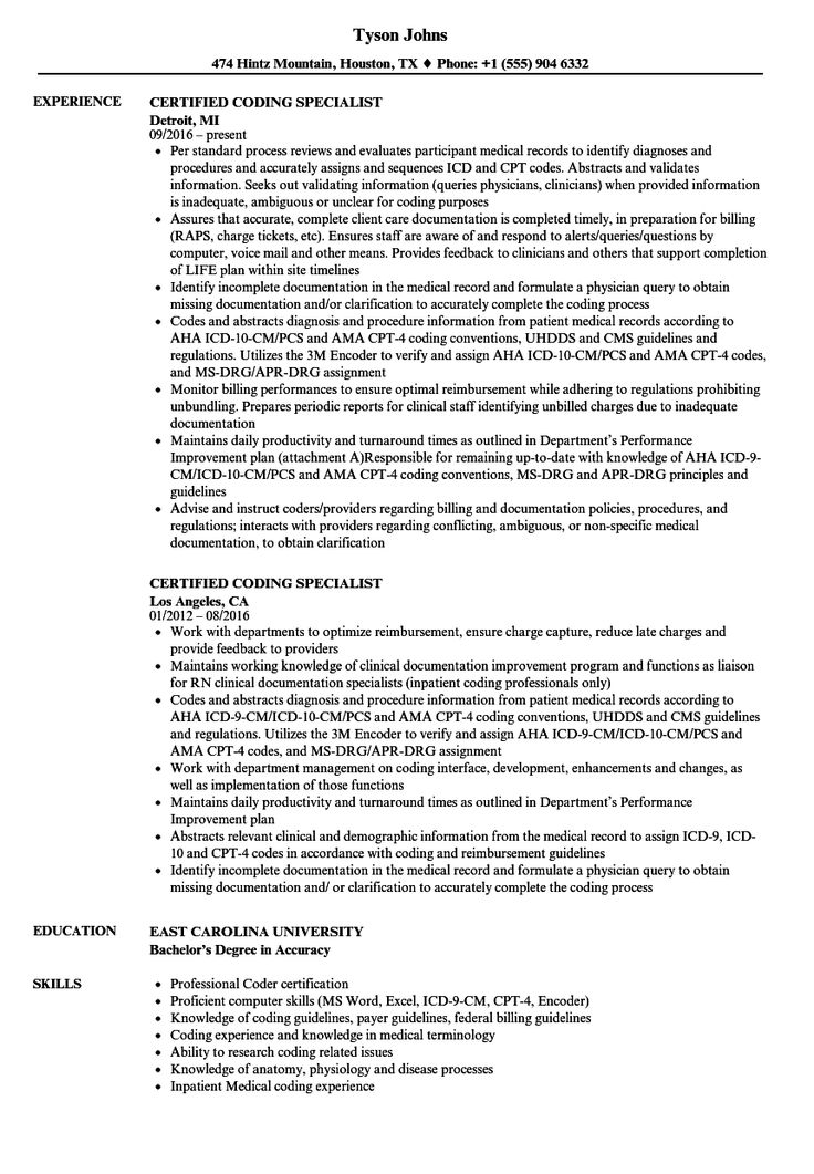 30 Accounts Receivable Specialist Resume Medical coder