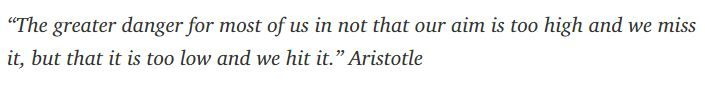 Words to ponder from Aristotle