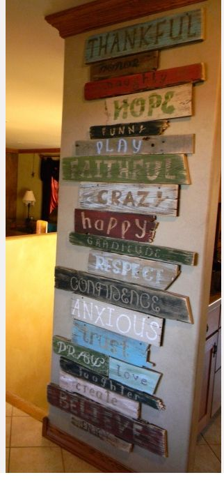 brillant idea for daily reminders!