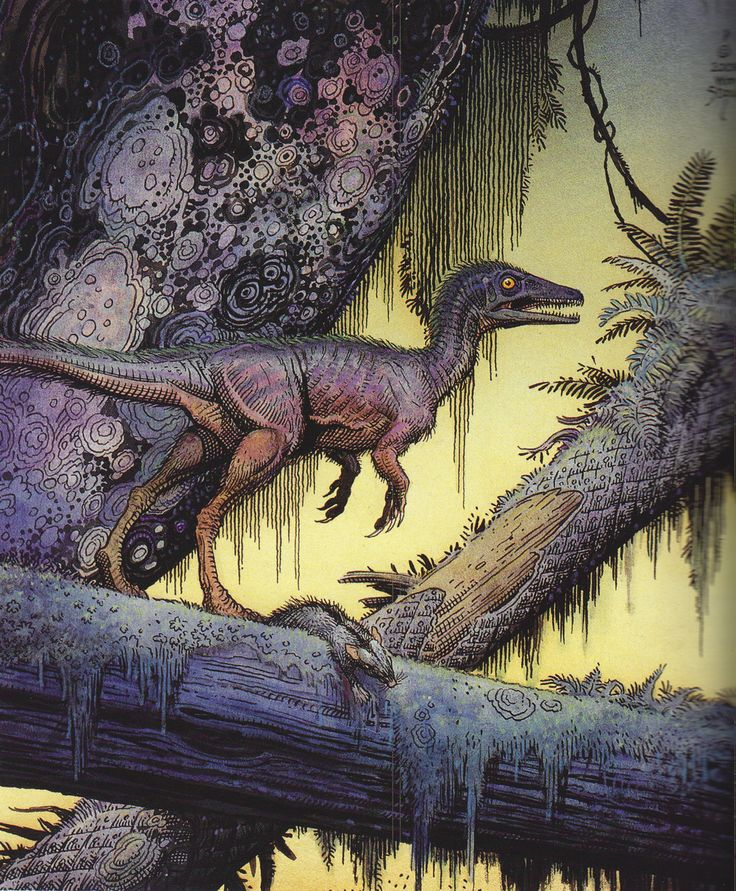 Sinosauropteryx by William Stout