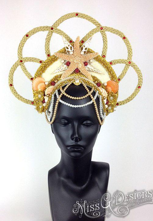 Mermaid Goddess Headdress by MissGDesignsShop on Etsy, $400.00