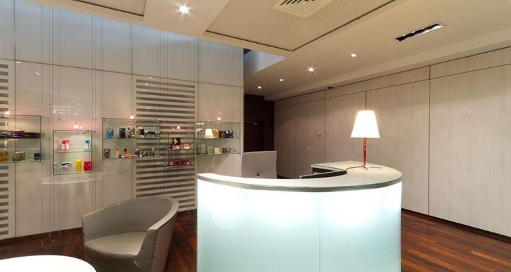Zona de recepção nas instalações da Coty em Paris, França