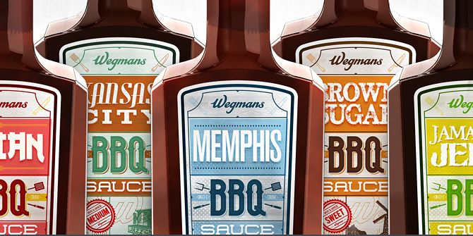 mouth-watering BBQ sauce labels